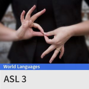 ASL 3 course picture