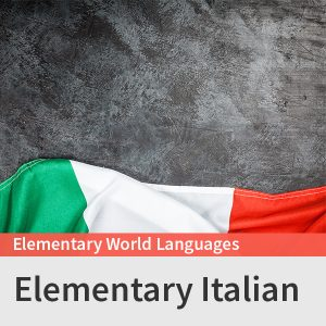 Elementary Italian course picture